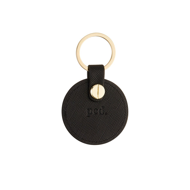 Black Circle Keychain