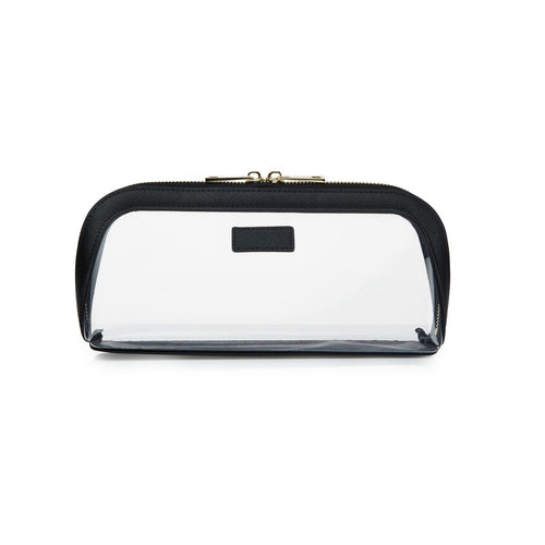 Black jet Setter Transparent Makeup Bag