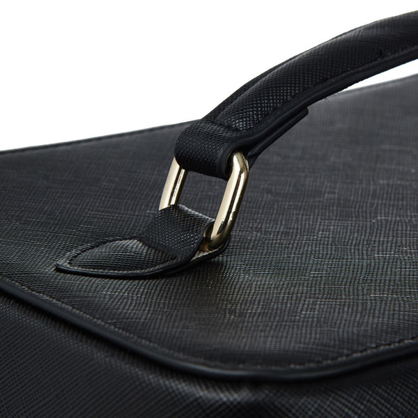 Large Black Personalized Saffiano Makeup Box