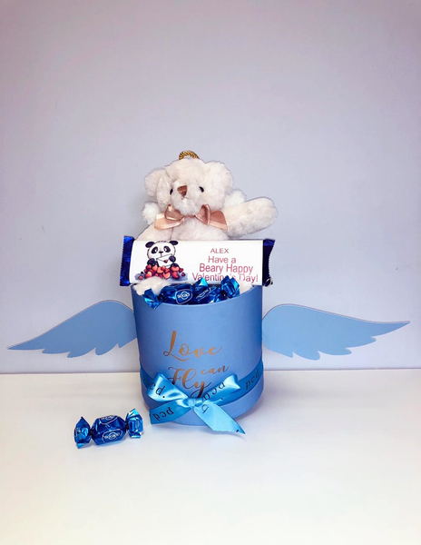 Blue if love can fly Hamper