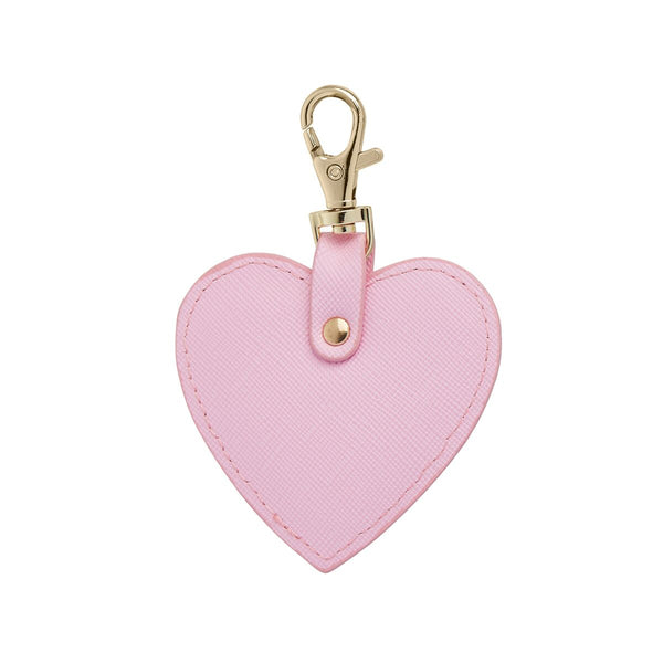 Bright Pink Heart Keychain