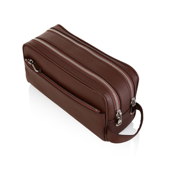 Chestnut Brown Mens Wash Bag