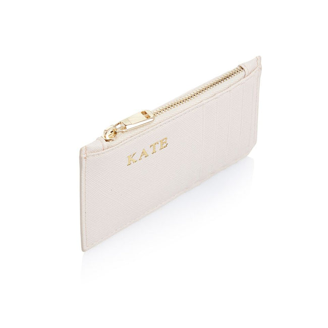 Nude Card Holder with zipper