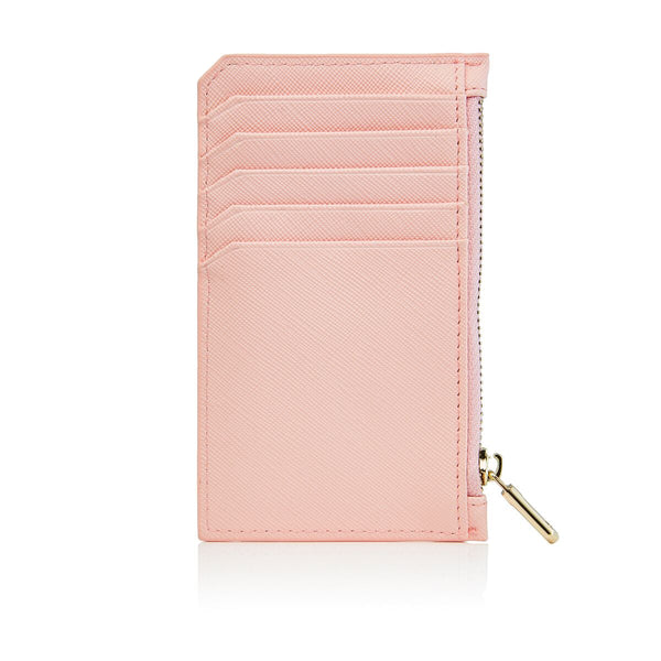 Light Pink Card Holder with zipper