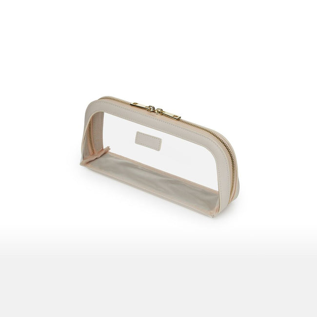 Nude jet Setter Transparent Makeup Bag