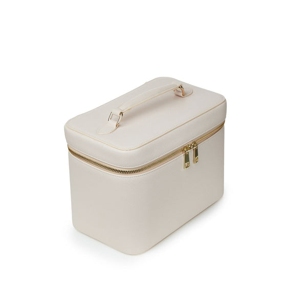 Large Nude Personalized Saffiano Makeup Box