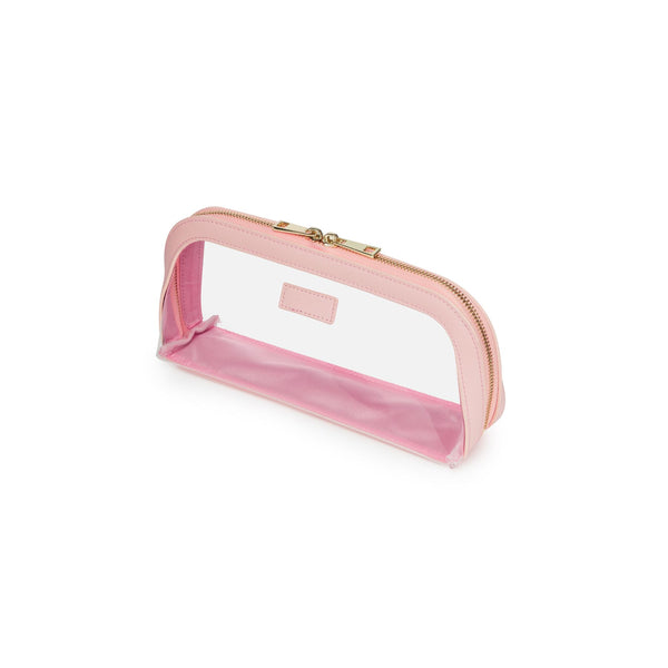 Pink jet Setter Transparent Makeup Bag