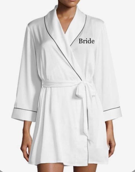 Ladies White Customized Robe