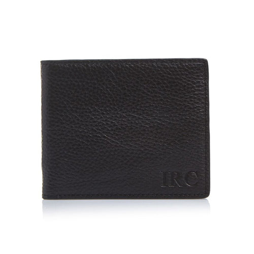 Men's Pebbled Black Bifold Wallet