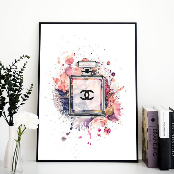 Chanel perfume bottle - Wall Art Poster A3