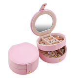 Pink Circular Multi layered Jewelry Box