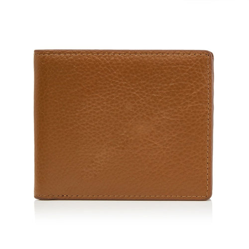 Men's Pebbled Tan Bifold Wallet