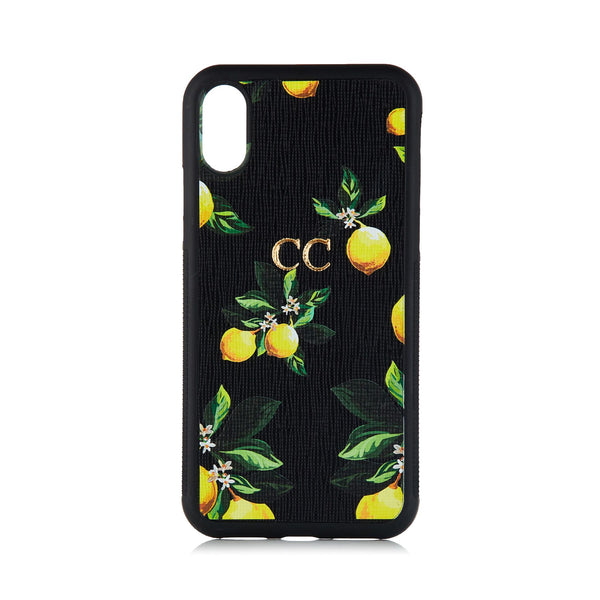 Lemon Bliss Black phone Covers