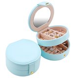 Mint Green Circular Multi layered Jewelry Box