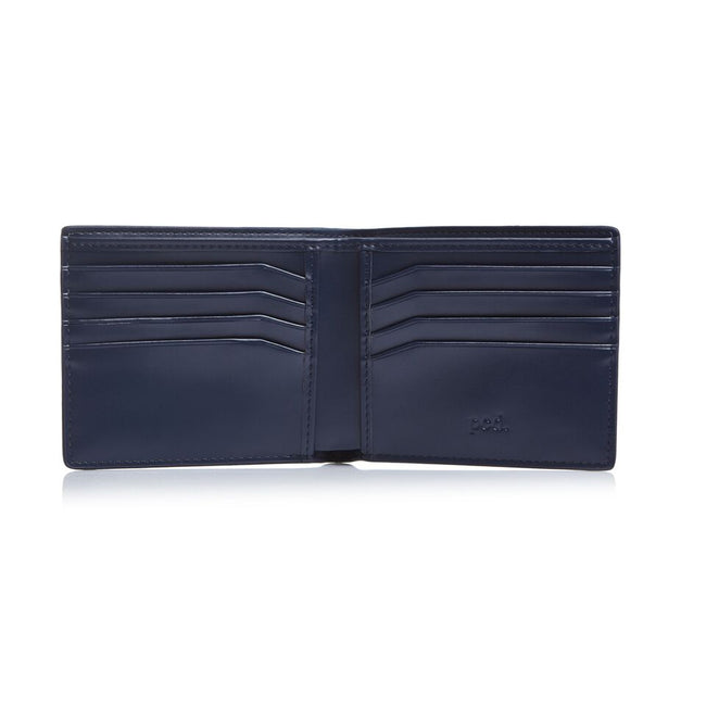 Men's Saffiano Bifold Navy Wallet