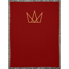 Crown Logo Red Woven Blankets