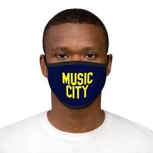 Music City Basic Text Mixed-Fabric Face Mask