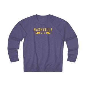 Nashville 615 bolts Graphic Unisex French Terry Crew