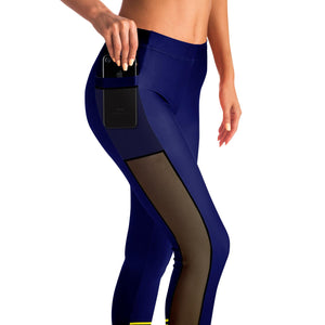 6 Ankle Strings Mesh Pocket Leggings