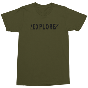 Explore Outline Military T-shirt