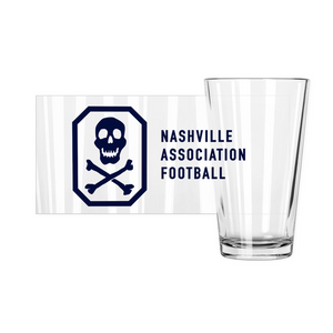 NAF Skull Crest Pint Glass