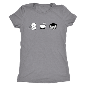 Cats Coffee and Books Librarian T shirt