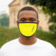 Hollow Bolt Navy Mixed-Fabric Face Mask