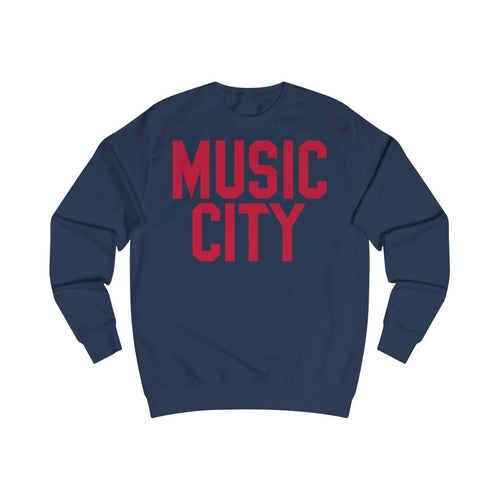 Music City Red Text Sweatshirt