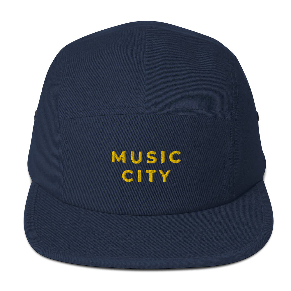 Music City Vintage Gold Five Panel Cap
