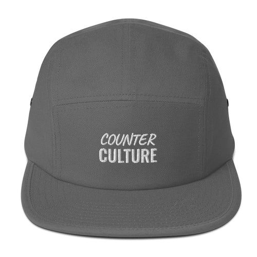Counter Culture scripted nameplate Five Panel Cap