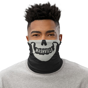 Nashville Skull Charcoal and BoneNeck Gaiter