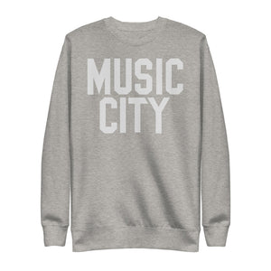 Music City Basic Text Bone Unisex Fleece Pullover