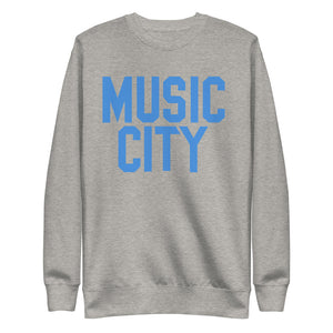 Music City Basic Text Unisex Fleece Pullover