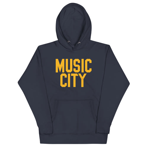 Music City Vintage Gold text Premium Unisex Hoodie