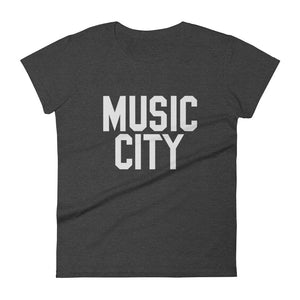 Music City Basic Text Women's short sleeve t-shirt