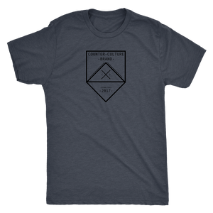 Counter Culture Brand Modern hipster Tri blend logo T shirt