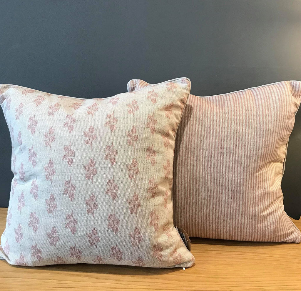 Sam Wilson Flora Pink Square Linen Cushion
