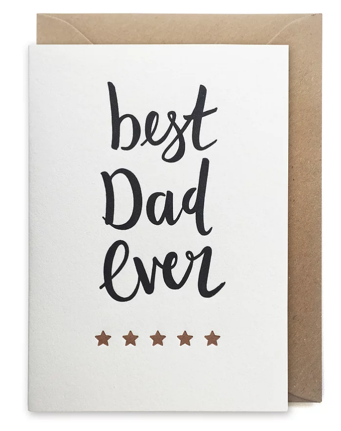 Over the C Best Dad Ever Card