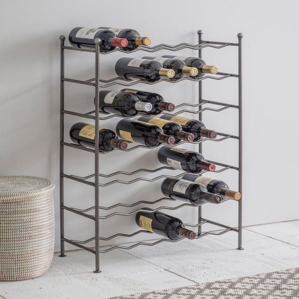 Farringdon Steel Wine Rack