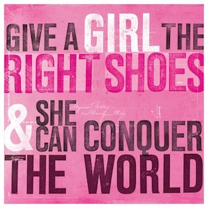 U Studio Give a Girl The Right Shoes Coaster - NOW 20% OFF