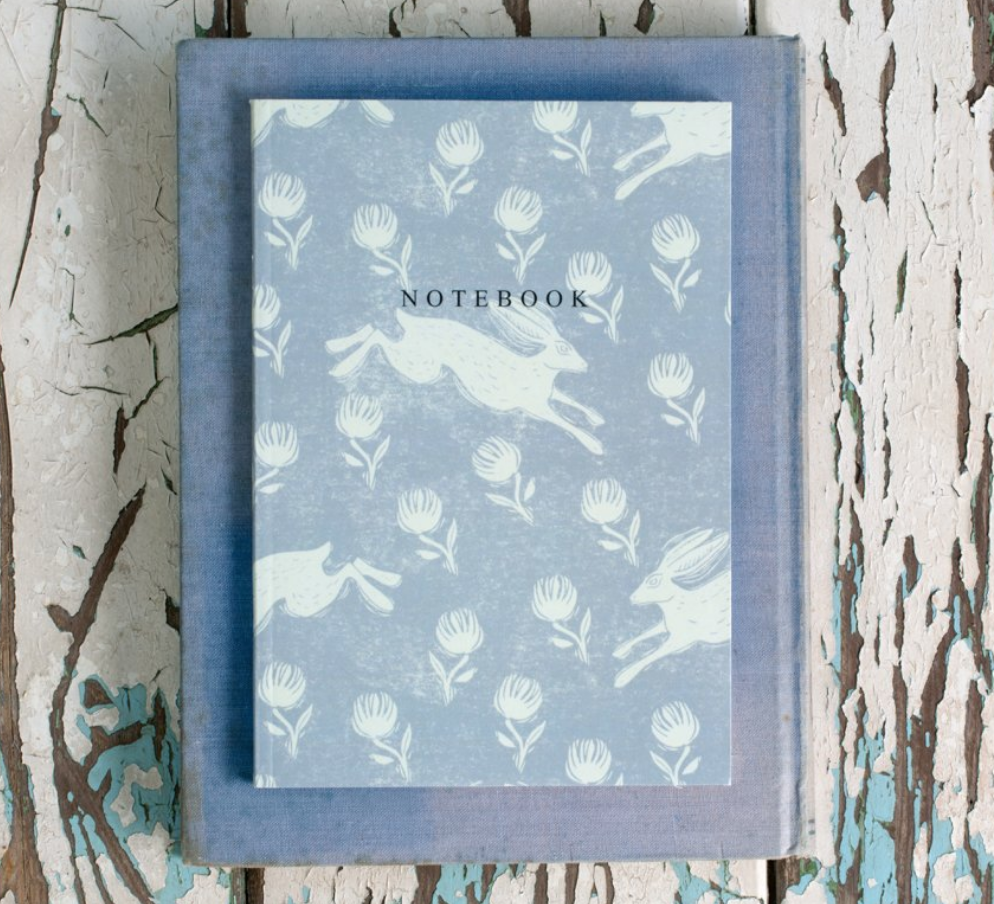 Sam Wilson Notebook Running Hare Grey - NOW 20% OFF