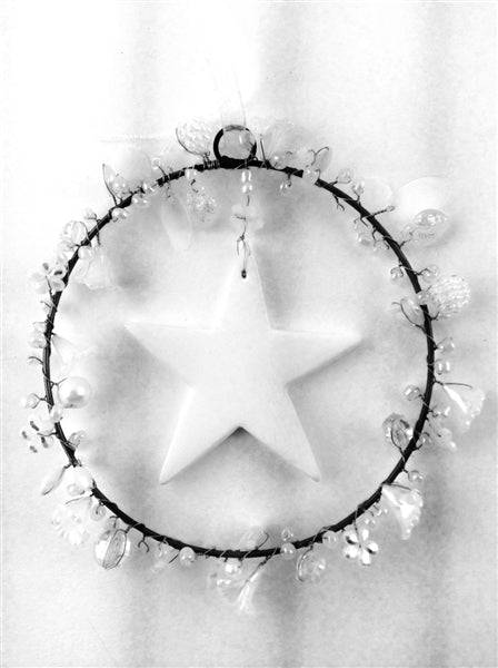 Clay Star Crystal Beaded Ring
