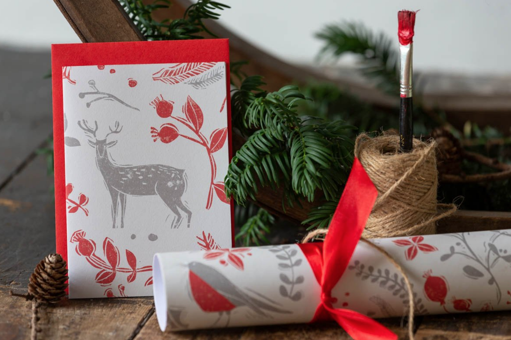 Sam Wilson Reindeer Red Christmas Card Set