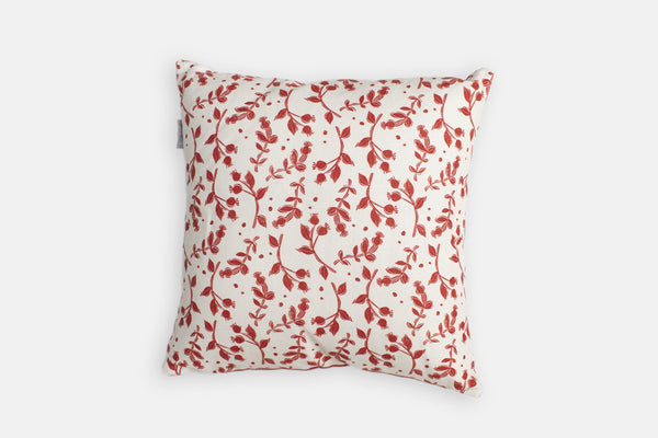 Sam Wilson Red Rosehip Linen Cushion