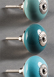 Sea Green Plain Door Knobs - NOW 20% OFF