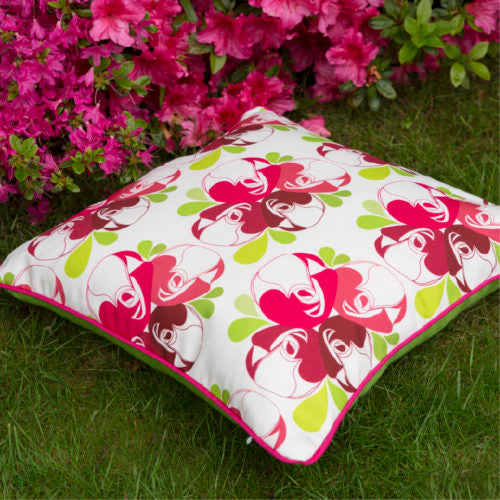 Rose Print Square Cushion - NOW 40% OFF