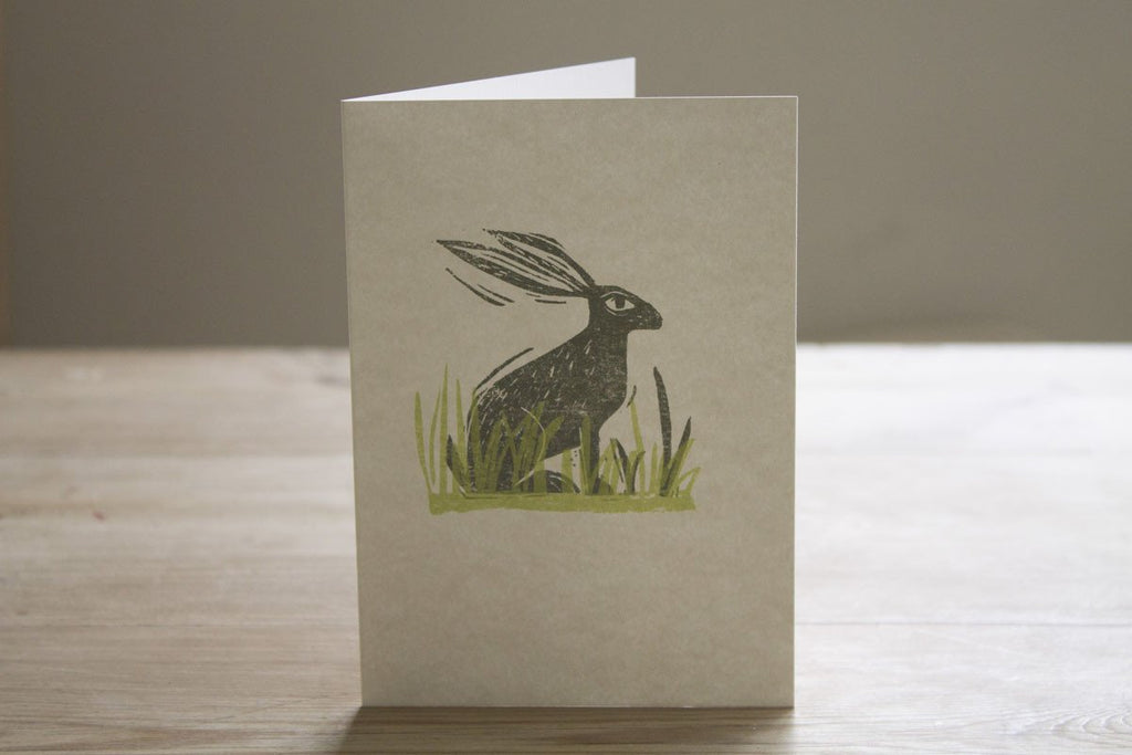 Sam Wilson Hare in the Grasses Greeting Card