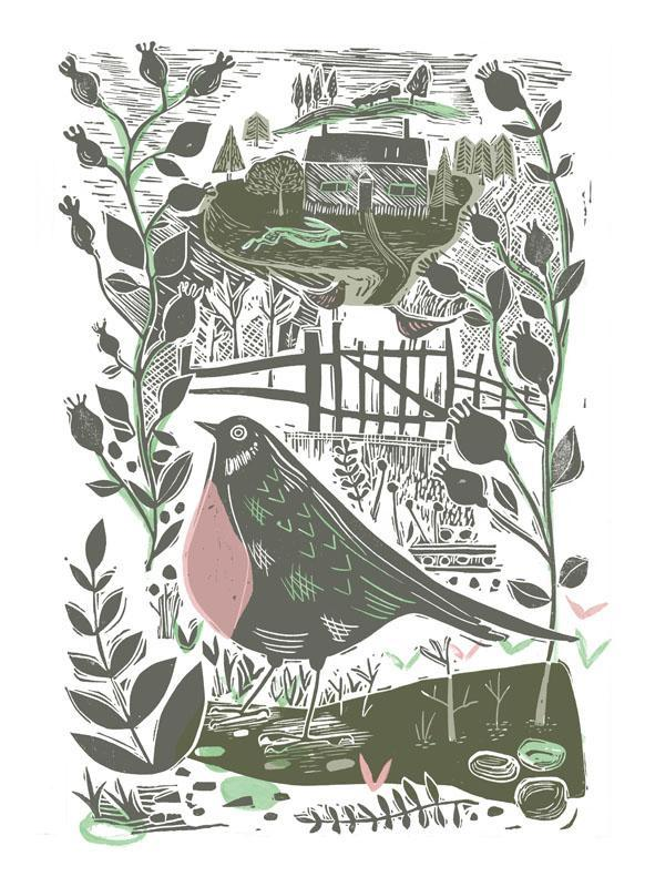 Sam Wilson Garden Bird Print - SMALL