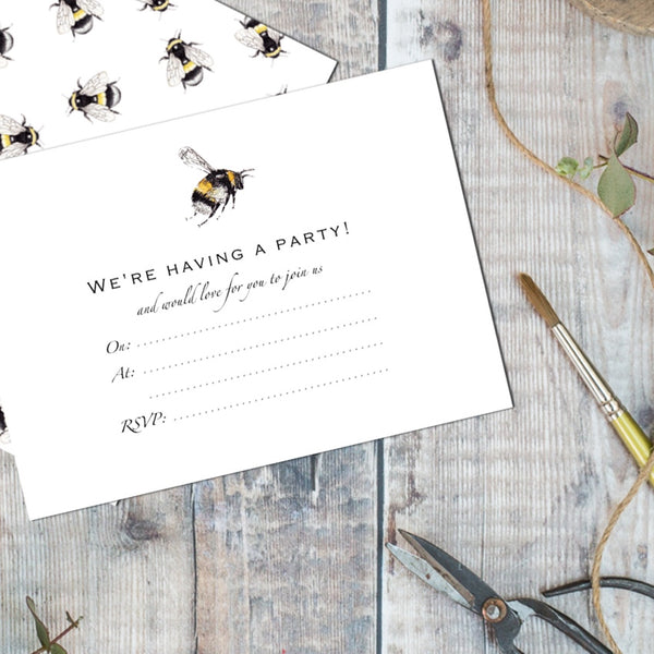 Toasted Crumpet Bumble Bee Invites