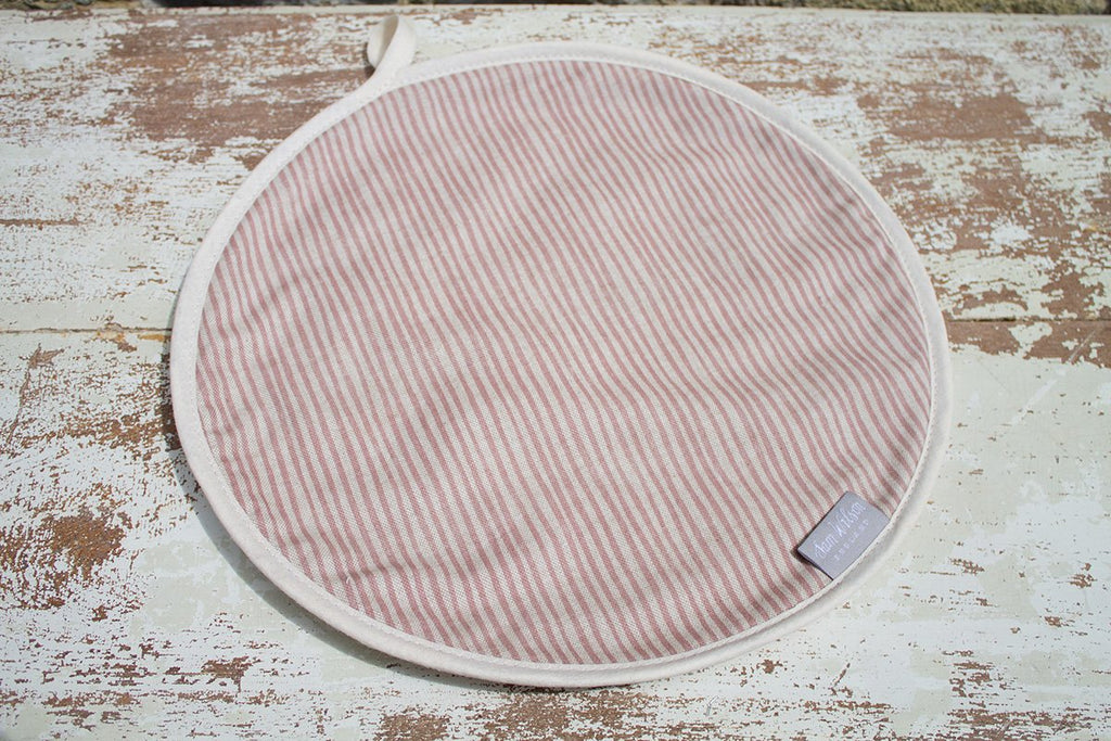 Sam Wilson Pink Stripe Aga Covers - NOW 20% OFF